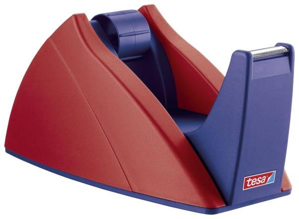 Tischabroller für Klebefilm tesa Easy Cut, 33 m x 19 mm, rot blau Abroller®
