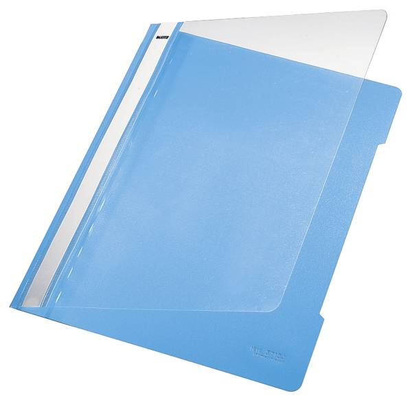 4191 Hefter Standard, A4, langes Beschriftungsfeld, PVC, hellblau