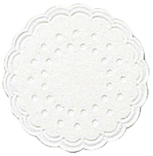 Tassenuntersetzer Ø 7,5 cm, weiß, 25 Stück