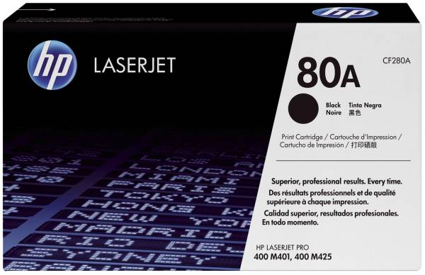 Druckkassetten schwarz, 2 700 Seiten, CF280A®