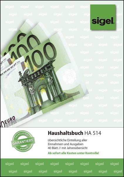Haushaltsbuch mit Klammerheftung A5, 40 Blatt