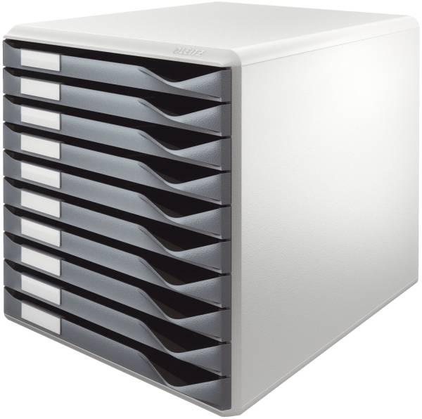 LEITZ Schubladenbox 10 Laden dgrau 5281-00-89