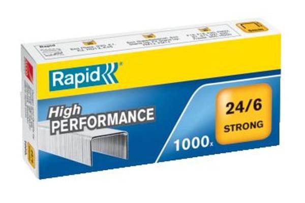 RAPID Heftklammer 24/6 verzinkt 24855800 Strong 1000St