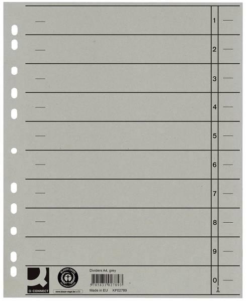 Trennblätter durchgefärbt A4 Überbreite, grau, 100 Stück