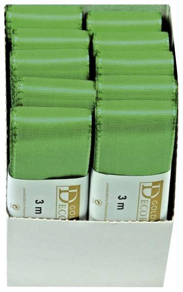 GOLDINA Basic Taftband 40mmx3m grün 1445040501003