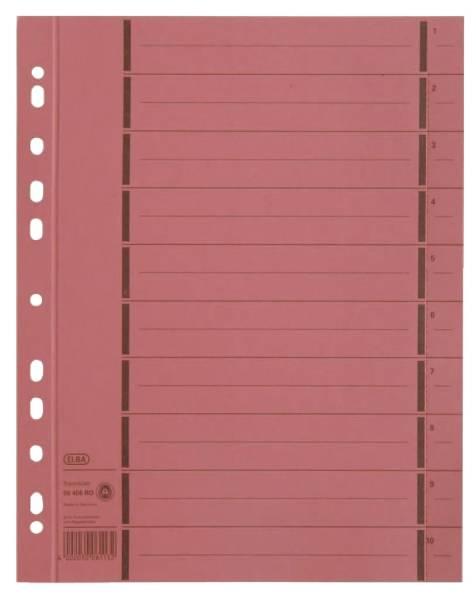 Trennblätter mit Perforation A4 Überbreite, rot, 100 Stück