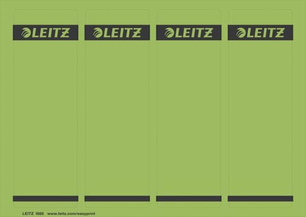 1685 PC beschriftbare Rückenschilder Papier, kurz breit,100 Stück, grün