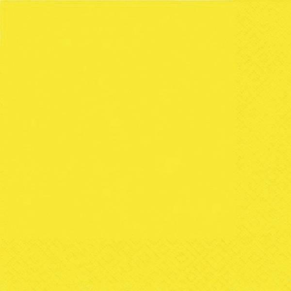 Serviette Zelltuch uni 33 x 33 cm gelb
