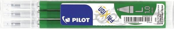 PILOT Tintenrollermine Frixion 0,5mm 3ST grün BLSFR10-G-S3-E 2259004F