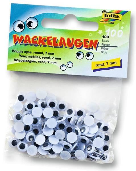 Wackelaugen Ø 7 mm, rund, 100 Stück