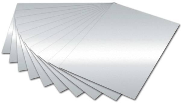 FOLIA Fotokarton 50x70cm silber glänzend 6161E 250g