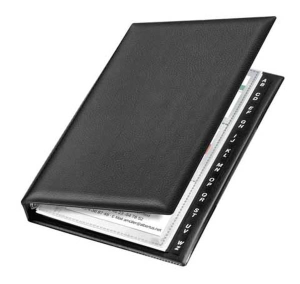 VELOFLEX Visitkartenringbuch A5 schwarz 4155 590 14,5x22,5cm