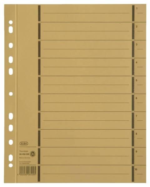 Trennblätter mit Perforation A4 Überbreite, gelb, 100 Stück