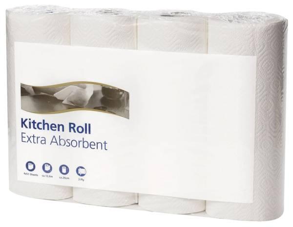 TORK Küchenrolle 26x24cm 2lag. weiß 4 Stück 120270