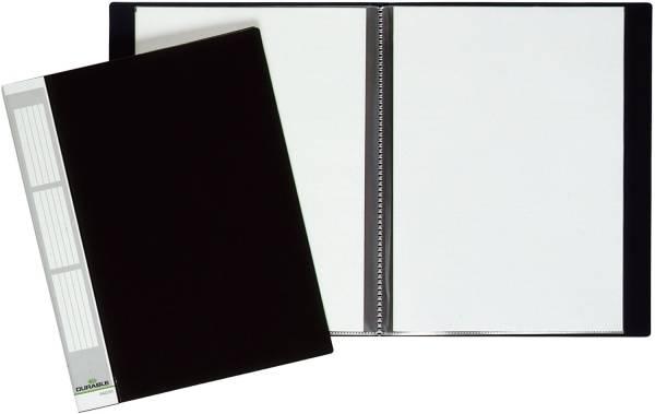 DURABLE Sichtbuch A4 schwarz 2422 01 20 Hüllen