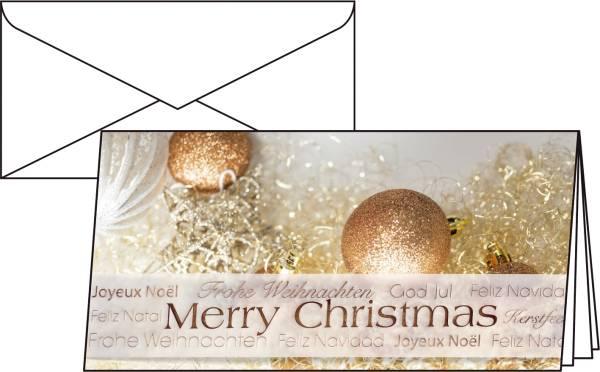 """Weihnachts Karten """"Christmas Glitter"""" DIN lang (2 3 A4), 10 Karten®"""