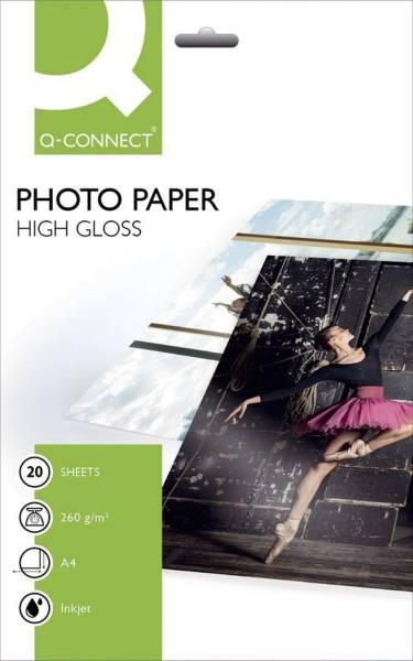 Inkjet Photopapiere A4, hochglänzend, 260 g qm, 20 Blatt
