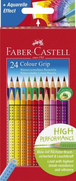 Buntstift Colour GRIP 24 Farben sortiert, Kartonetui