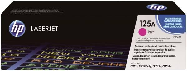 HP Lasertoner Nr. 125A magenta CB543A