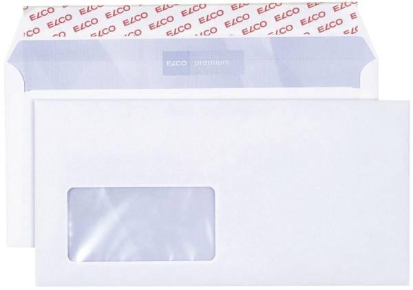ELCO Kuvertierumschlag 229x114mm weiß. m. Fen 30778 Haftstreif 500 Stck.