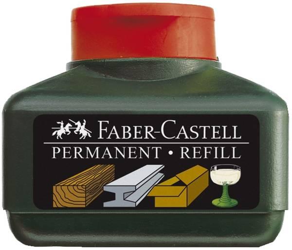 FABER CASTELL Nachfüllflasche 30ml rot 15 05 21 f.Perm