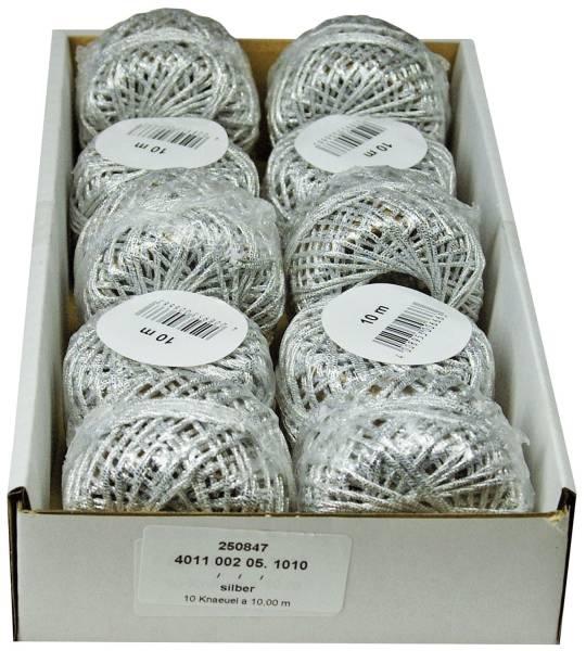 Cordonettkordel 2mmx10m silber