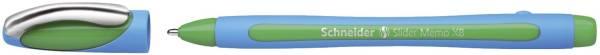 Kugelschreiber Slider Memo XB, Kappenmodell, 0,7 mm, grün