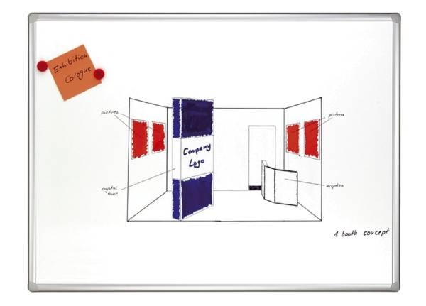 FRANKEN Schreibtafel 120x240cm weiß SC8206 PRO