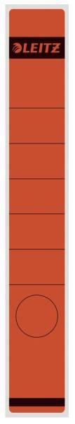1648 Rückenschilder Papier, lang schmal, 10 Stück, rot