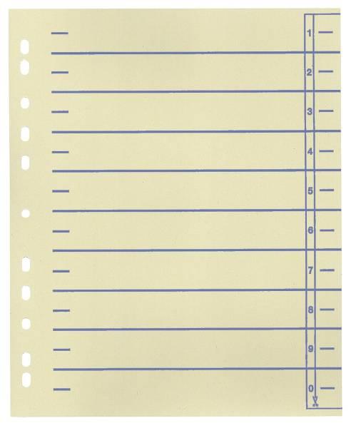 Trennblätter, farbiger Organisationsdruck A4 Überbreite, blau, 100 Stück