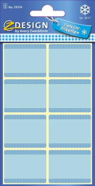 Z Design 59374, Tiefkühl Etiketten, 5 Bogen 40 Etiketten