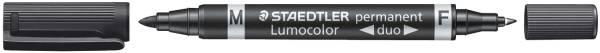 STAEDTLER Folienstift Duo perm. schwarz Lumocolor 348-9