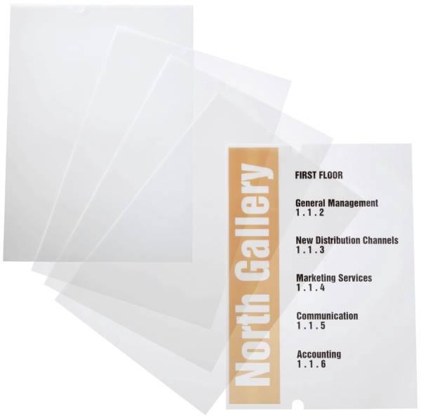 EDV beschriftbare Folie CRYSTAL SIGN refill, 210x297mm