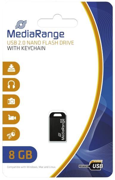 MEDIARANGE USB Stick mini 8GB MR920 2.0