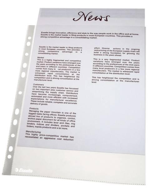 Prospekthülle Standard, A4, PP, dokumentenecht, 100 Stück, glasklar
