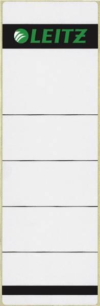 1642 Rückenschilder Papier, kurz breit, 10 Stück, hellgrau