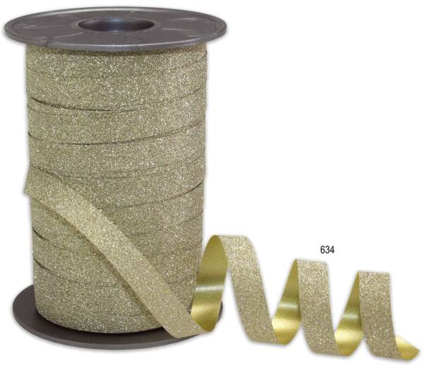 Ringelband Glitter gold 85 09-634 10 mm 100 m