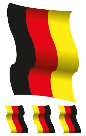 Fensterbild Deutschland Fahne