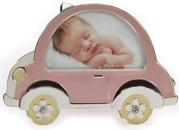 GOLDBUCH Fotorahmen Baby Auto rosa 960080 f.8x5cm