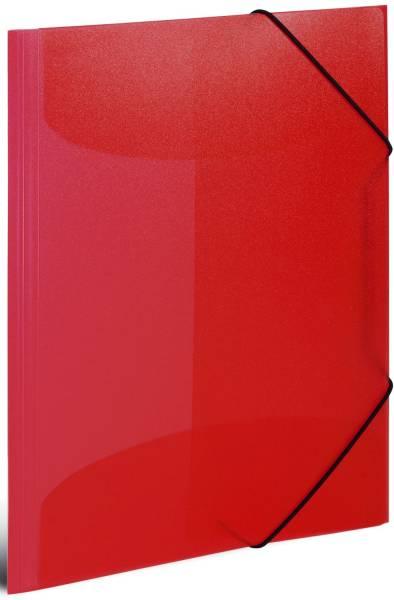 HERMA Gummizugmappe A3 PP transl. 19516 rot