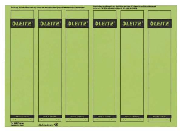 1686 PC beschriftbare Rückenschilder Papier, kurz schmal, 150 Stück, grün