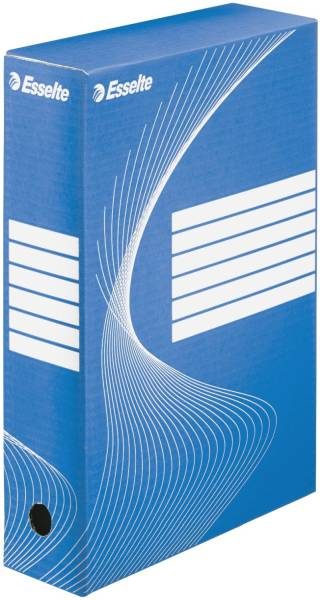 Archiv Schachtel DIN A4, Rückenbreite 8 cm, blau