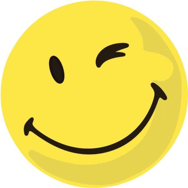 Moderationskarte Wertungssymbol, Gesicht positiv, gelb, 100 Stück