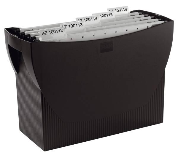 HAN Hängemappenbox Swing schwarz 1900-13 o.Deck.390x260x150