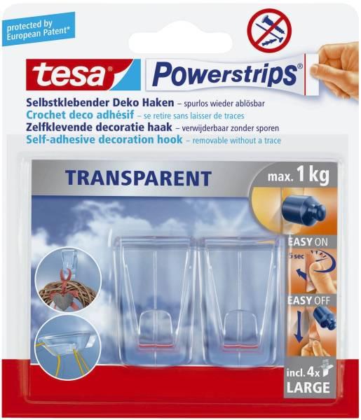 TESA Powerstrips 2Haken 1kg transp. 58813-00000-00