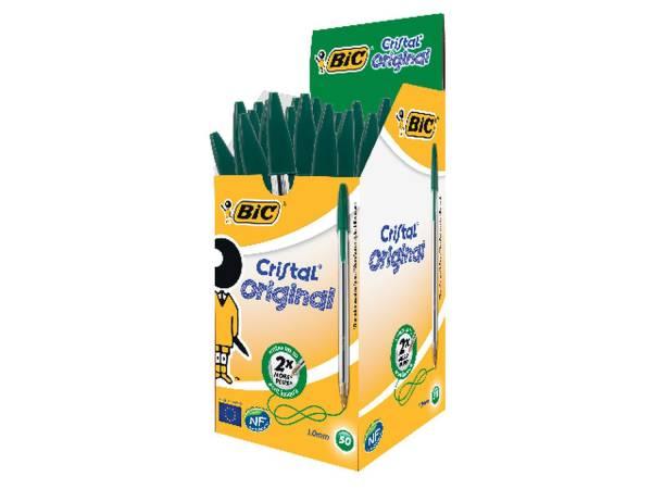 Kugelschreiber Cristal Medium, 0,4 mm, grün®