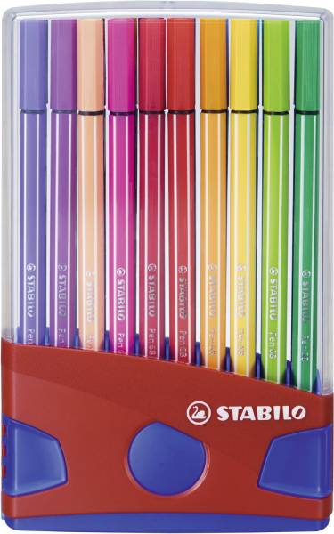 STABILO Fasermaler Pen 68 ColorParade rot 6820-04 20 Stück sort.