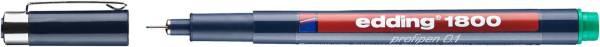 1800 Faserzeichner profipen 0,25 mm, grün
