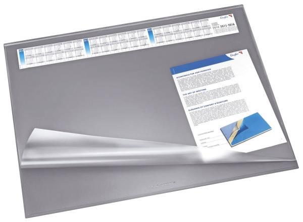 Schreibunterlage SYNTHOS 65 x 52 cm, grau, Vollsichtauflage