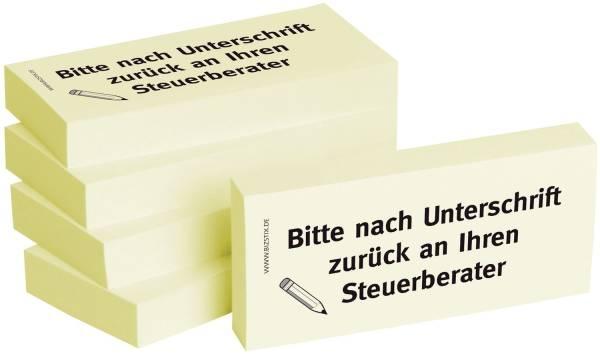 BIZSTIX Haftnotiz nach Unt.an Steuerbe 1301010112